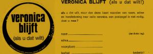 Veronica blijft als u dat wilt